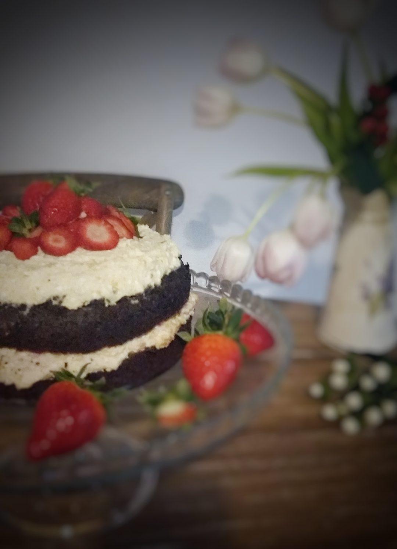 Maková torta s vanilkovojahodovým krémom