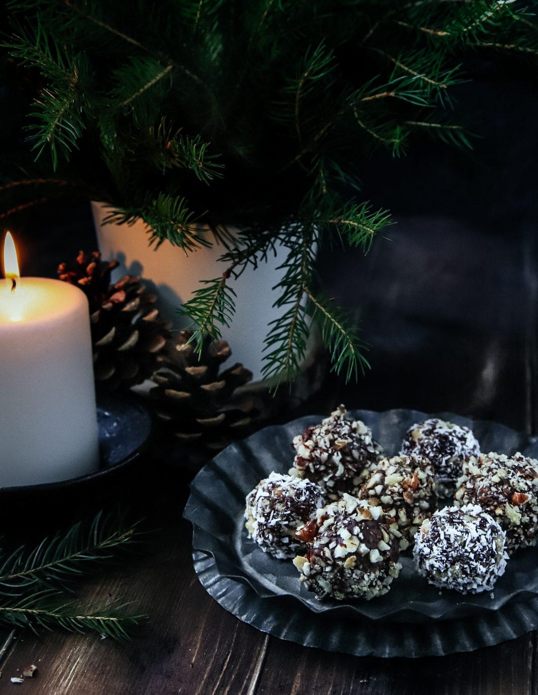 vianočné raw guličky