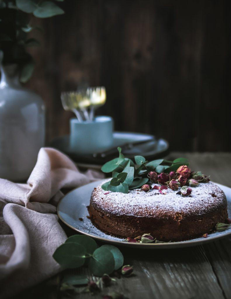 pistáciovo-mandľový koláč s citrusmi