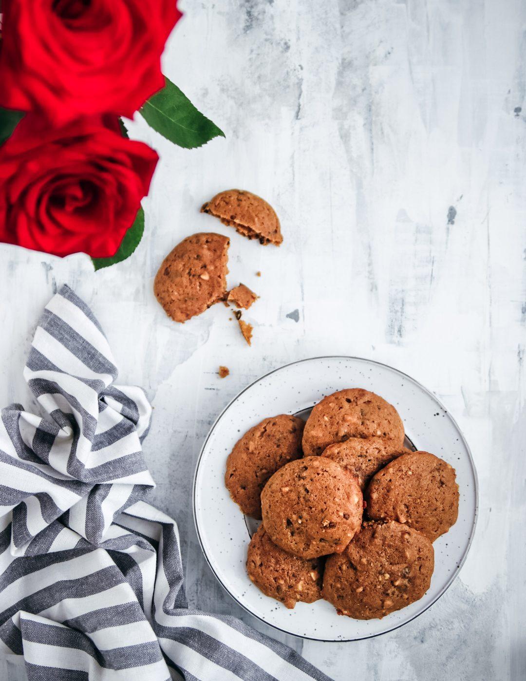 čokomandľové cookies